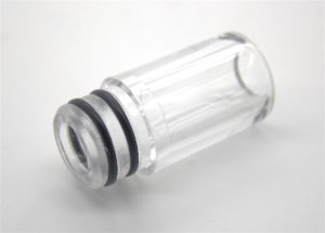 Glass drip tip